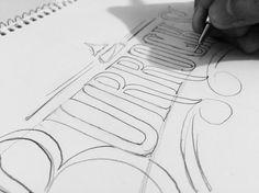Burrocks Foodtruck. First sketch hand lettering logo.  #handlettering #handwriting #lettering #logo #logoinspiration #foodtruck #burritos by ritchieruiz