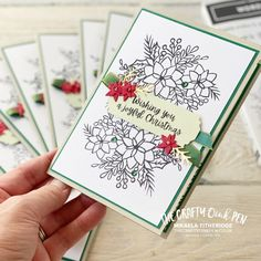 30 Challenge, Beautiful Christmas Cards, Cards For Friends, Free Gifts, Stampin Up, Xmas, Paper Crafts, Joy, Crafty