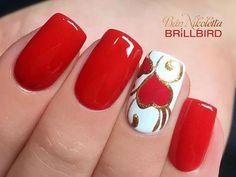 Ideas Nails Acrylic Glitter Red Valentines Day For 2019 day nail. - Ideas Nails Acrylic Glitter Red Valentines Day For 2019 day nails acrylic coffin red Nägel Acryl Sarg - Red Nail Art, Pink Nails, Acrylic Nail Designs, Nail Art Designs, Nails Design, Winter Nails 2019, Thanksgiving Nails, Heart Nails, Long Acrylic Nails