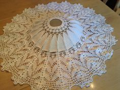 A personal favorite from my Etsy shop https://www.etsy.com/listing/249619961/crochet-doily-for-making-a-lampshade