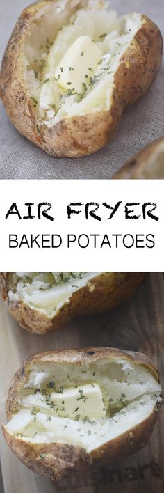 Air Fryer Baked Potatoes Recipe Diaries You are in the right place about air frying brussel sprouts Here we offer you the most beautiful pictures about the air frying breakfast you Power Air Fryer Recipes, Air Fryer Oven Recipes, Air Fryer Recipes Potatoes, Deep Fryer Recipes, Convection Oven Recipes, Air Fryer Recipes Vegetables, Air Fryer Baked Potato, Baked Potatoes, Cheesy Potatoes