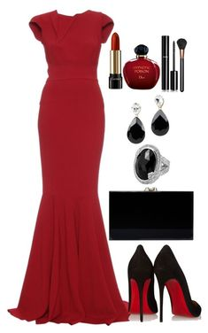 A fashion look from January 2016 featuring long evening gowns, pointed toe pumps and chain handbags. Browse and shop related looks. Classy Outfits, Chic Outfits, Pretty Outfits, Pretty Dresses, Beautiful Dresses, Gala Dresses, Event Dresses, Occasion Dresses, Looks Style