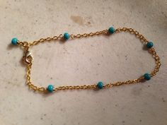 Turquoise Bracelet   Chain Jewelry  Gold Jewellery  by cdjali