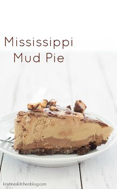 Mississippi Mud Pie - coffee ice cream, chocolate ganache, toffee... it's sooo good!  | Kristine's Kitchen