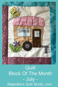 Quilt Block Of The Month - July Quilting Tools, Quilting Tutorials, Quilt Studio, Block Of The Month, Blanket Stitch, Back Stitch, Satin Stitch, Quilt Blocks, Hand Sewing