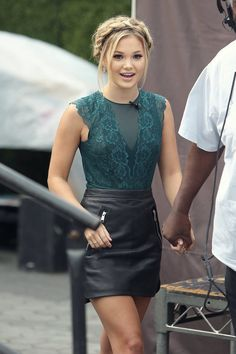 Olivia Holt live episode of Extra TV