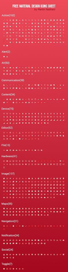 Free Google Material Icons Sketch #freeicons #materialdesign #vectoricons…