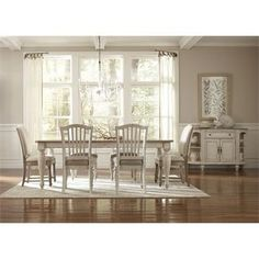 We are all about the Coastal look! Coventry Rectangular Dining Table I Riverside Furniture