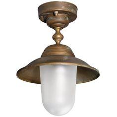 Tuscanor - Brass Porch Flush Light - TUS1973