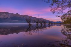 https://flic.kr/p/GKDMeN | One Calm Pink Sunrise | Beautiful calm sunrise at the Willow Rows, Glenorchy, New Zealand. The dawn sky stained pink by the rising sun. There was hardly any breeze to stir the mirror like Lake Wakatipu surface, while a thin layer of mist floated lazily in the distance.  Purrrfect!  Pseudo long exposure made up from 25 images taken at 15 seconds interval as part of my timelapse sequence.  Sony a7R + Zeiss 16-35 OSS   -----------------------------  HDR/DRI/Timelapse…