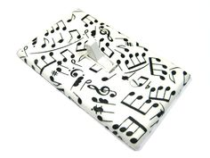 Black and White Music Notes Light Switch Cover Sheet Music Home Decor Gift for Music Teacher Switch Plate Switchplate 612. $6.00, via Etsy.