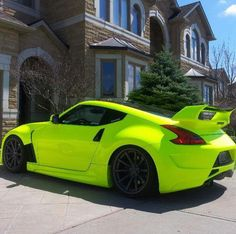 2013 Nissan 370Z. Very unique color! I want to do this to my car LOL but I think it would clash with the red leather.
