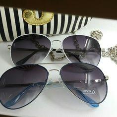 Aviators unisex sunglasses 1pcs silver top quality Bundle 2 for 15 Aviators unisex sunglasses 1pcs silver top quality 100% UV protection colors available purple pink vintage round C8272 Accessories Sunglasses