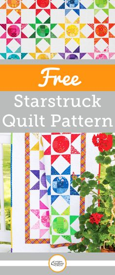 The GO! Starstruck throw is the perfect way to use up your scrappy stash. It uses scraps that range in size from 3¼ inches to 4¼ inches in a wide variety of hues. While the AccuQuilt designers chose twelve different, bold colors for each block, most quilters can't help tweaking pattern and color selections to make each quilt their own unique statement.