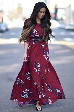 Vanessa Balli: Floral Maxi's; Spring Dresses