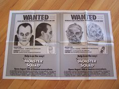$165 Man I want this! MONSTER SQUAD style B 1sh poster -   CULT CLASSIC  RARE Monster Squad, You Monster, Classic, Artwork, Poster, Style, Derby, Swag, Work Of Art