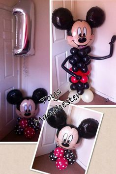 Mickey Mouse balloon figures in different sizes