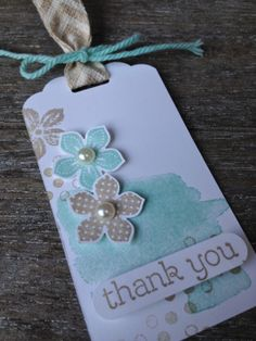 Margriet Creatief; stampin' up!, petite petals, Happy Watercolor, thank you tag