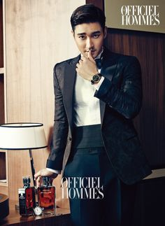 2014.12, L'Officiel Hommes, Super Junior, Choi Siwon