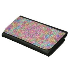 Techno Colors Vintage Kaleidoscope   Wallet - accessories accessory gift idea stylish unique custom