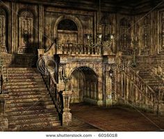 """A run down and abandoned old mansion. Reminds me of the house in """"Dark Shadows"""""""