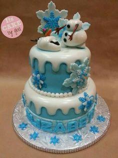 Disney Frozen cake | Olaf cake | @itscakebygina | Frozen theme |