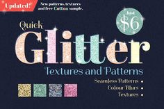 Quick Glitter Textures and Patterns by Wing's Art Studio on @creativemarket
