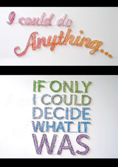 nail/string typography by Dominique Falla