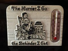 A personal favorite from my Etsy shop https://www.etsy.com/listing/476427648/vintage-standing-metal-thermometer-the