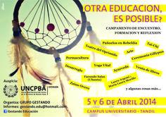 Cartel para Campamento Educativo Grupo Gestando - Tandil 2014
