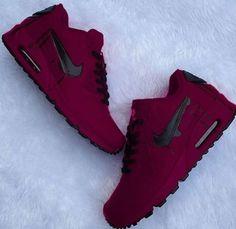 Tennis Shoe Boots For Women Tennis Shoes For Women Skechers Burgundy Tennis Shoes, Burgundy Sneakers, Cute Nike Shoes, Nike Air Shoes, Sneakers Nike, Souliers Nike, Moda Nike, Nike Air Max