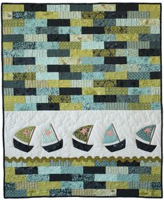 I like the idea of making a whole quilt from a jelly roll of similar colour fabrics, using either the black for oomph or another plain fabric.