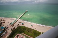 View of newly constructed pier at Sunny Isles Beach from Unit 2536 balcony....For Sale $1.2M