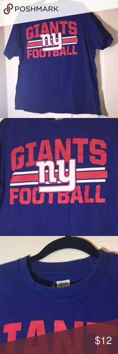"NFL Giants football short sleeves tee shirt. XL NFL Giants football short sleeves tee shirt. Size. XL. 22"" between armpits. Length 27.5"". nfl Shirts Tees - Short Sleeve"