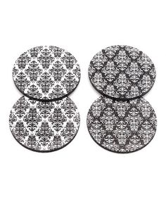 Another great find on #zulily! Damask Rubber Coaster Set #zulilyfinds