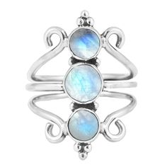 925 sterling silver Rainbow moonstone Weight: grams Choose your size Copyright Bohomoon 2019 Barbarella, Buy Rings, Moonstone Ring, Rainbow Moonstone, Belly Button Rings, Boho, Sterling Silver, Jewelry, Rings
