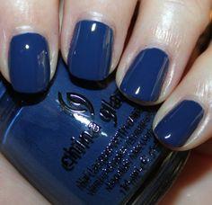 "Perhaps the perfect ""TARDIS blue"" nail polish? China Glaze's First Mate"