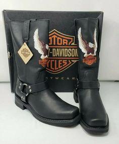 12e15a52373a65 Harley-Davidson Men s Darren 11.5-Inch Black Motorcycle Boots D93216 SIZE  10 M