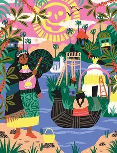 Illustrated cultural series celebrates Chile, Colombia, Mexico and Peru   Creative Boom