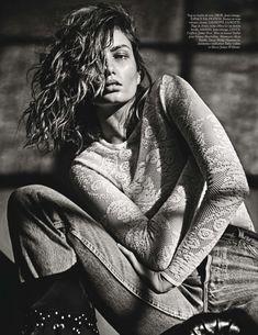 Andreea Diaconu by Mario Sorrenti for Vogue Paris March 2015 - DIOR top