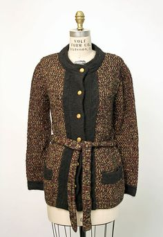 Cardigan sweater  House of Chanel (French, founded 1913)  Date: 1974 Culture: French Medium: wool, angora