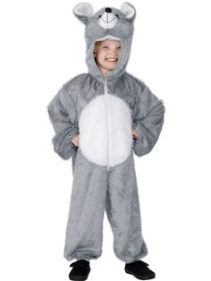Kids Mouse Costume Whether your little one is quite as a mouse or not they will look adorable in this Kids Mouse Costume. Catch him if you can. Your child will be ready for a game of cat and mouse when they wear this cool costume. Fancy Dress Onesie, Fancy Dress For Kids, Gruffalo Costume, Nativity Costumes, Mouse Outfit, Mouse Costume, Cat Sweatshirt, Dress Up Costumes, Unisex