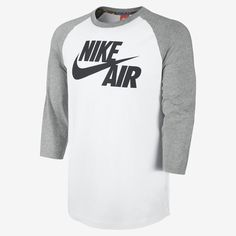 Nike Basketball 3/4-Sleeve Raglan Men's Shirt. Nike Store