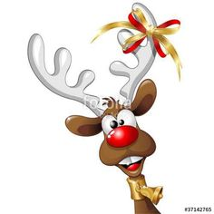 "Download the royalty-free vector ""Renna Natale Buffa Fumetto-Funny Reindeer Cartoon-Vector"" designed by BluedarkArt at the lowest price on Fotolia.com. Browse our cheap image bank online to find the perfect stock vector for your marketing projects!"