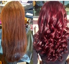 Color transformation!  #Haircolor #redhair #goldwell