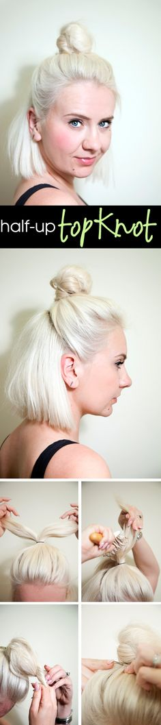 Behold, a Chic Topknot for Shoulder Length Hair | Beauty Blitz