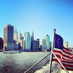 Downtown Manhattan - view from New York Water Taxi