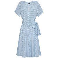 Vestido Vichy seda xadrez - azul
