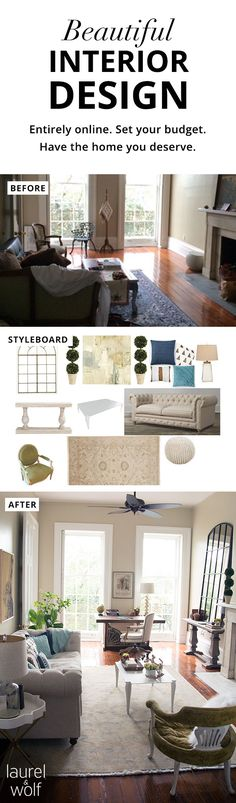 "Did you know you can get beautiful interior design entirely online? For 1 flat fee, you get multiple designs customized for your space by top US interior designers. After reviewing their ""first looks"", choose the designer you like best. Then work 1 on 1 to design your dream space! Designers always work within your budget, and everything happens entirely online. Your complete package includes a finalized style board, floor plan, instructions, and real shopping list. Start here with a style…"