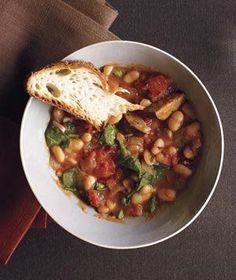 Slow-Cooker White Bean and Kielbasa Stew | Get the recipe for Slow-Cooker White Bean and Kielbasa Stew.